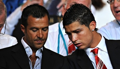 Jorge Mendes with Cristiano Ronaldo